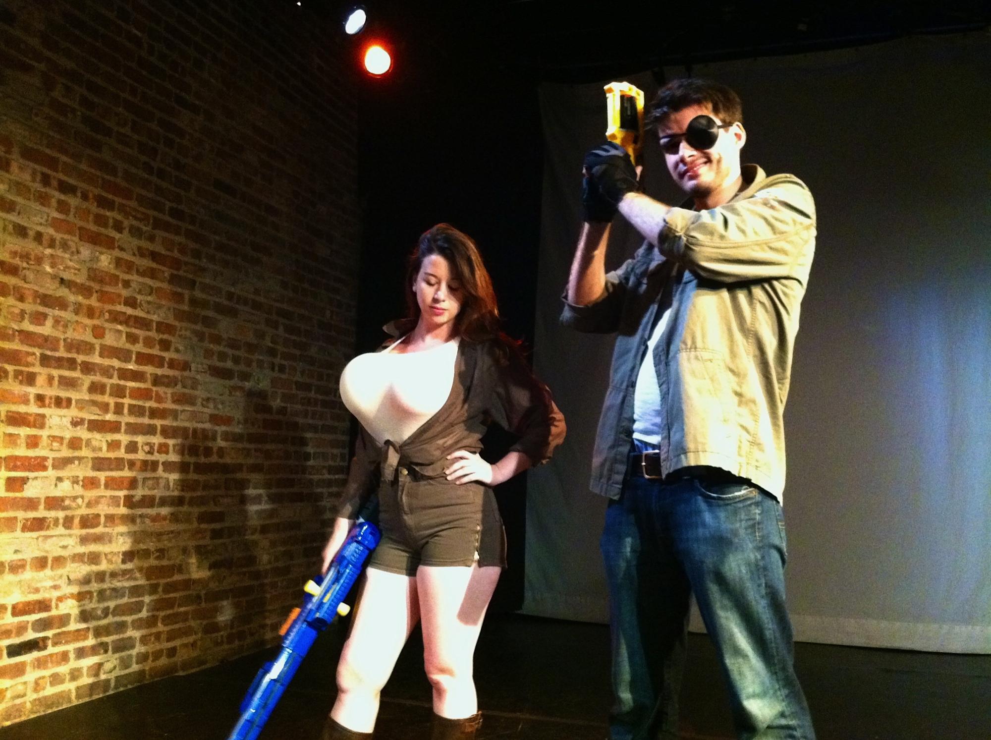 Svetlana (Ariel Gitlin) and Crazy George (Drew Murtaugh), ready for action.