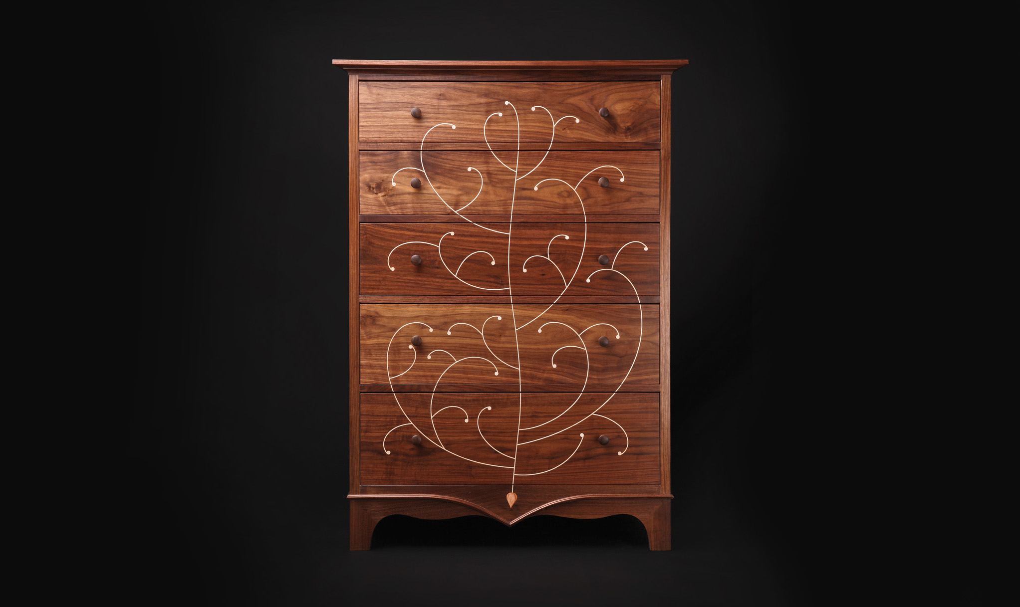 Inlay Dresser Walnut Jeremy Zietz