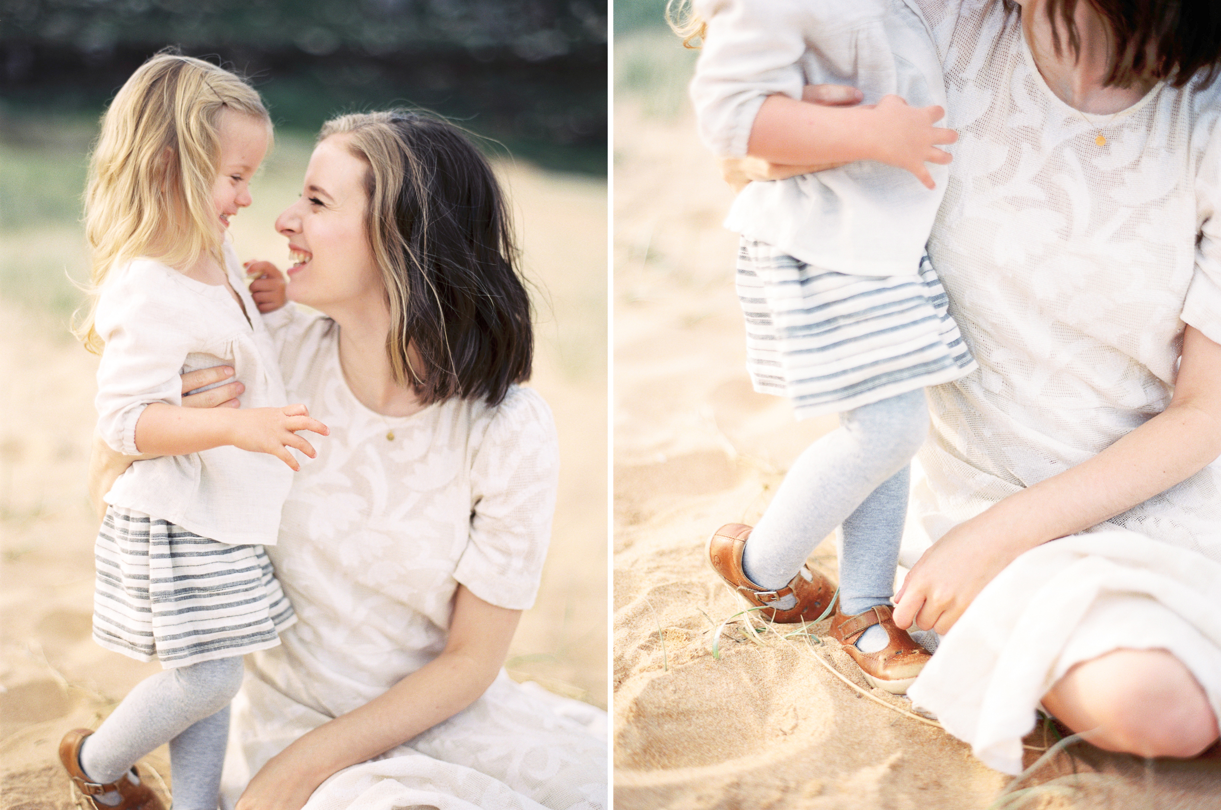 Seaside Family Session on Film