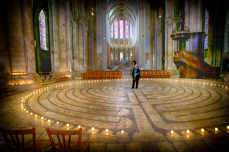 The labyrinth in Chartres Cathedral, France