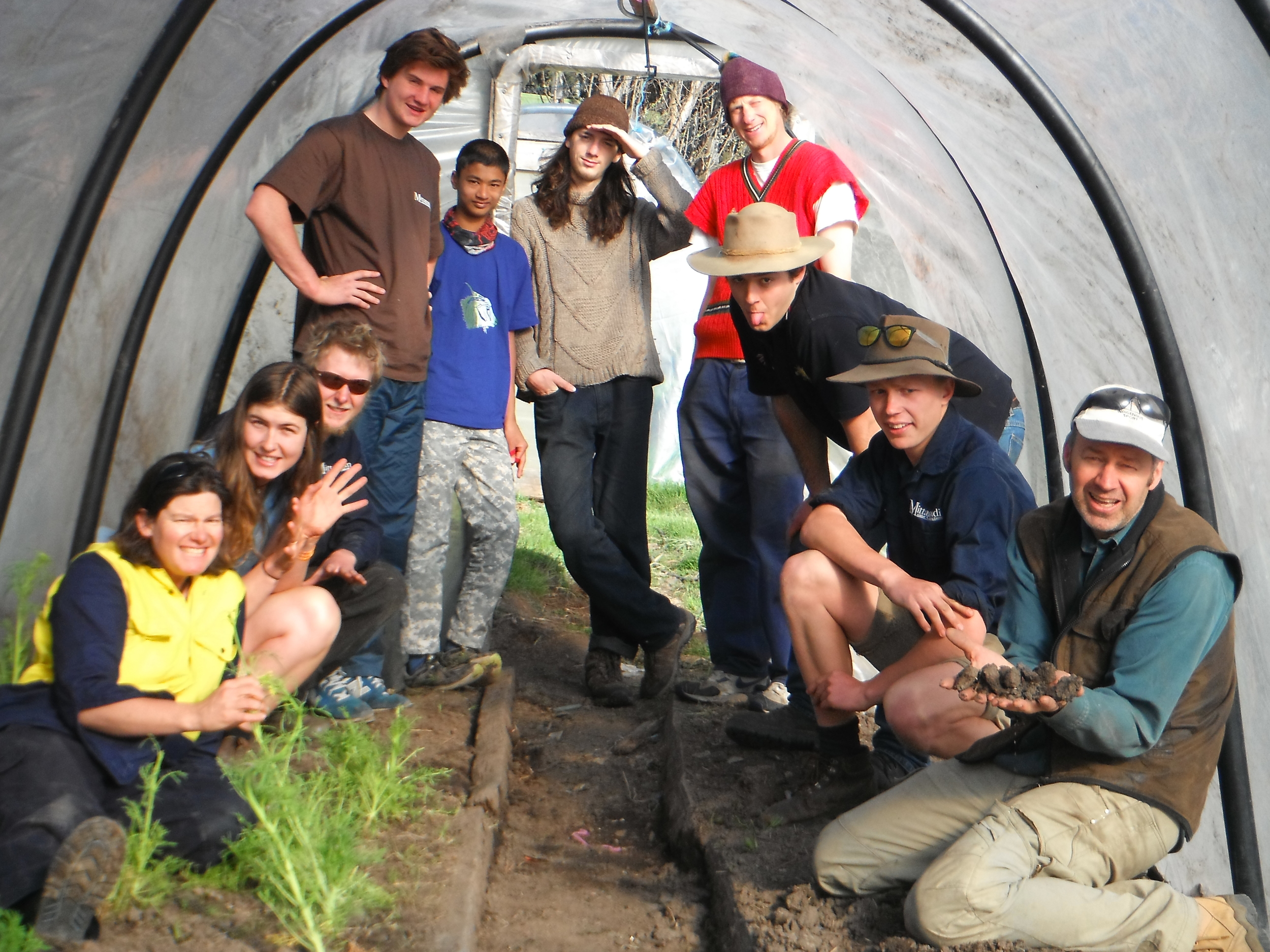 Garden Party 2014 revamped poly tunnel.JPG