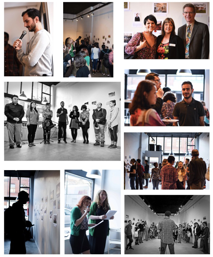 Photography at the opening event was taken by Jena LaRoy and Laura Mohr, photography students at Langara College
