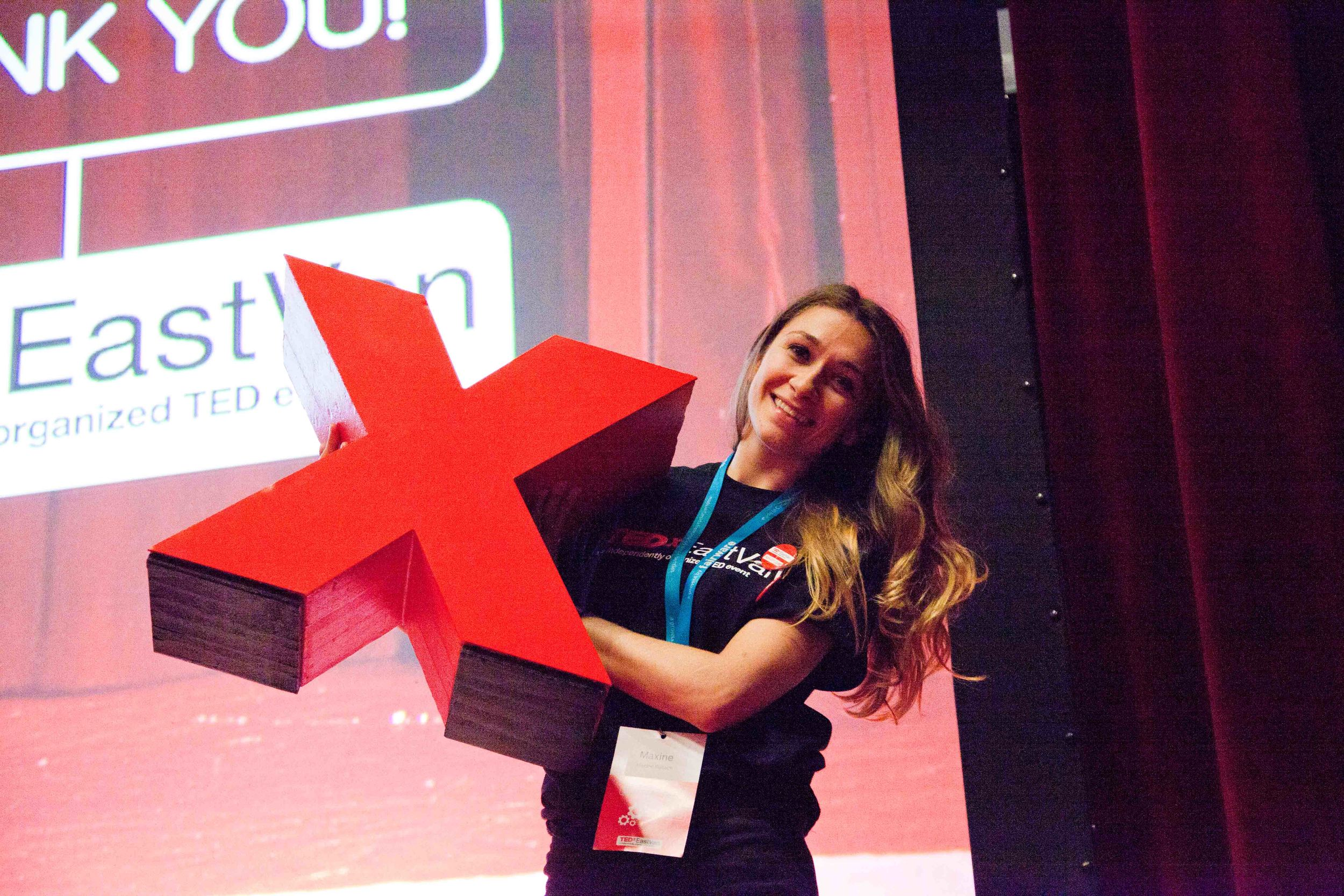 Me holding the famous X!