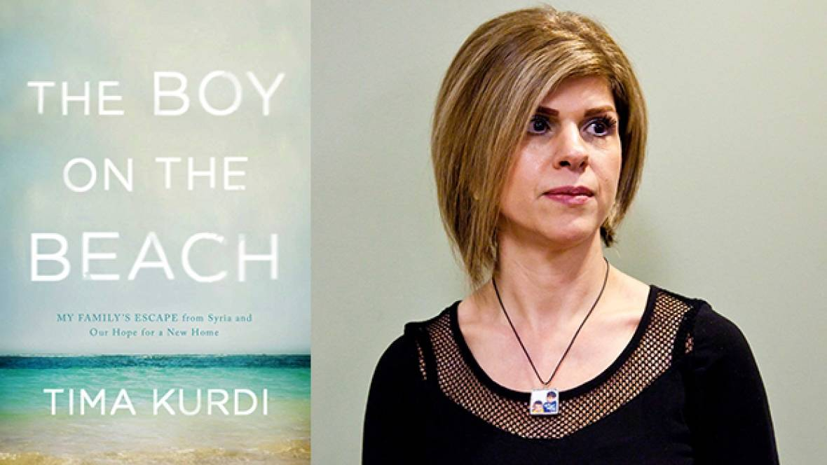 Tima Kurdi is an author, spokesperson and co-founder of the Kurdi Foundation. Her upcoming book, The Boy on the Beach, tells the heartbreaking story behind the death of her nephew, Alan Kurdi, whose lifeless body was photographed washed up on a Turkish beach, shocking the world into paying attention to the plight of Syrian refugees. (Maxine Bulloch/Simon & Schuster Canada. Source:  CBC )