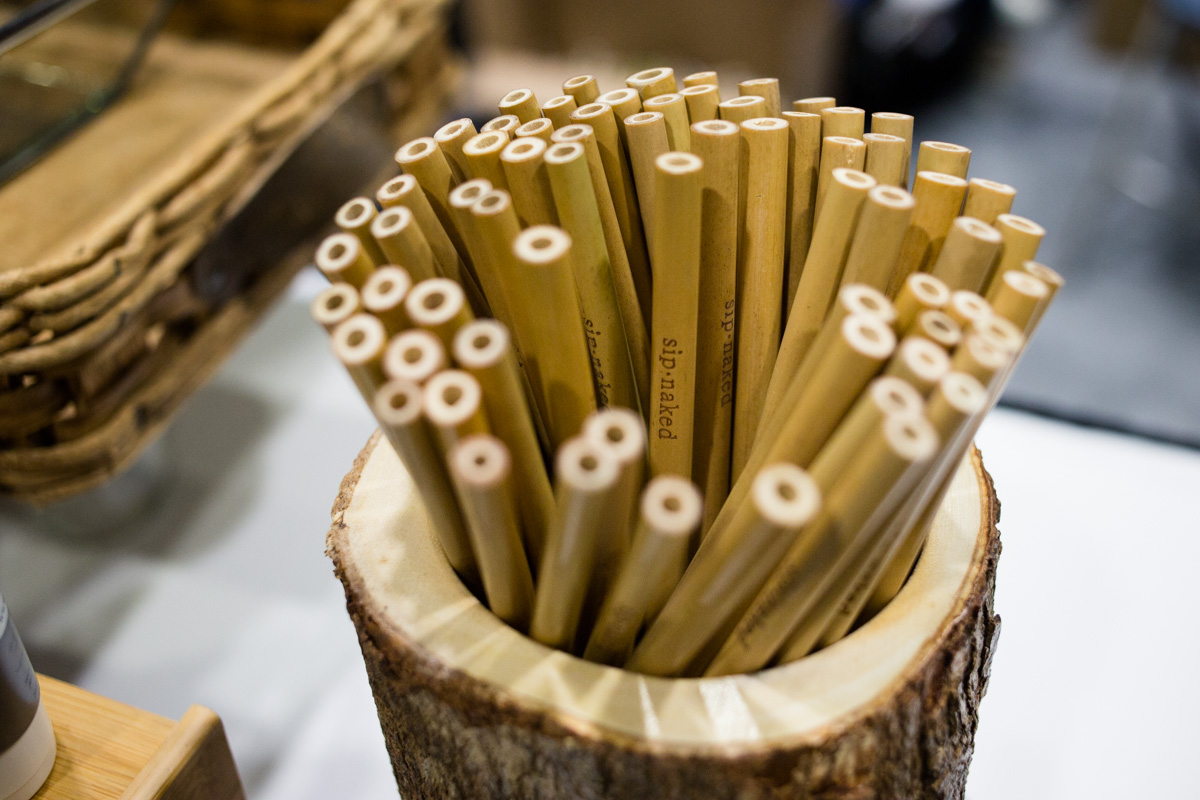 Bamboo straws by Sip Naked. Photo credit: Maxine Bulloch