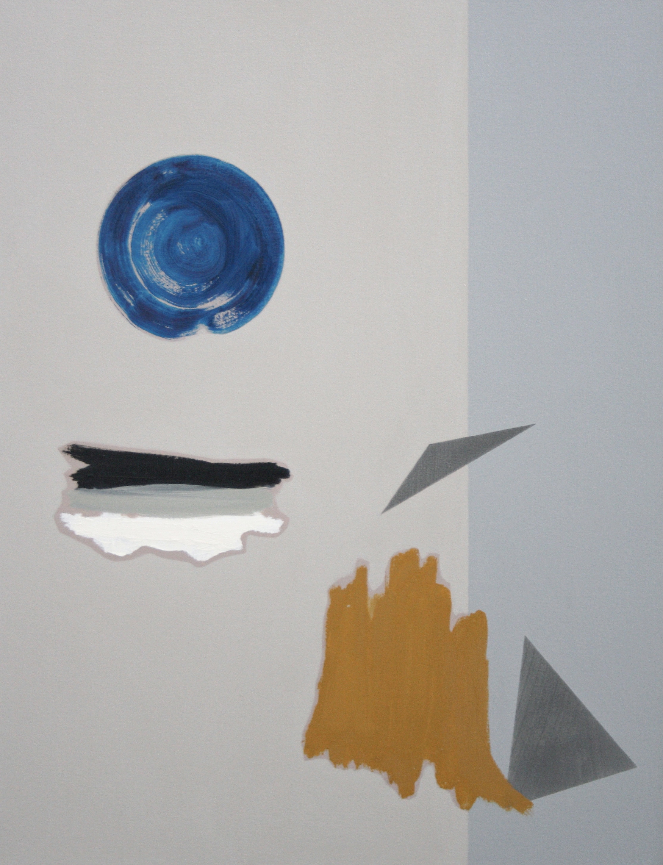 Degrees of Separation 6, 2010, oil, acrylic and graphite on canvas, 56 x 43 cm