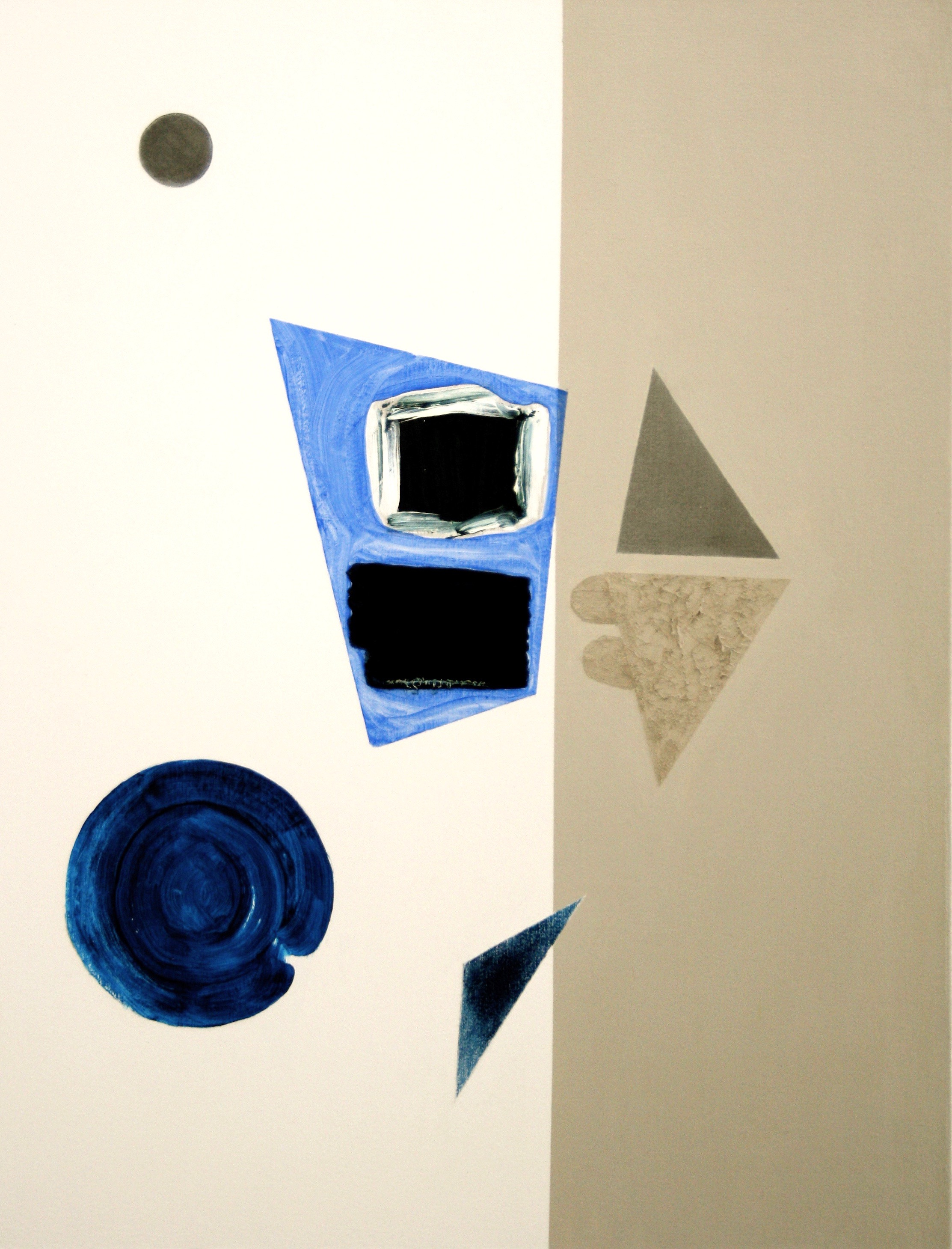 Degrees of Separation 4, 2010, oil, acrylic and graphite on canvas, 56 x 43 cm