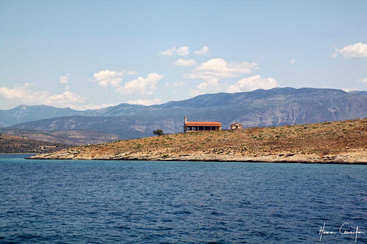 An islet off of Galaxidi