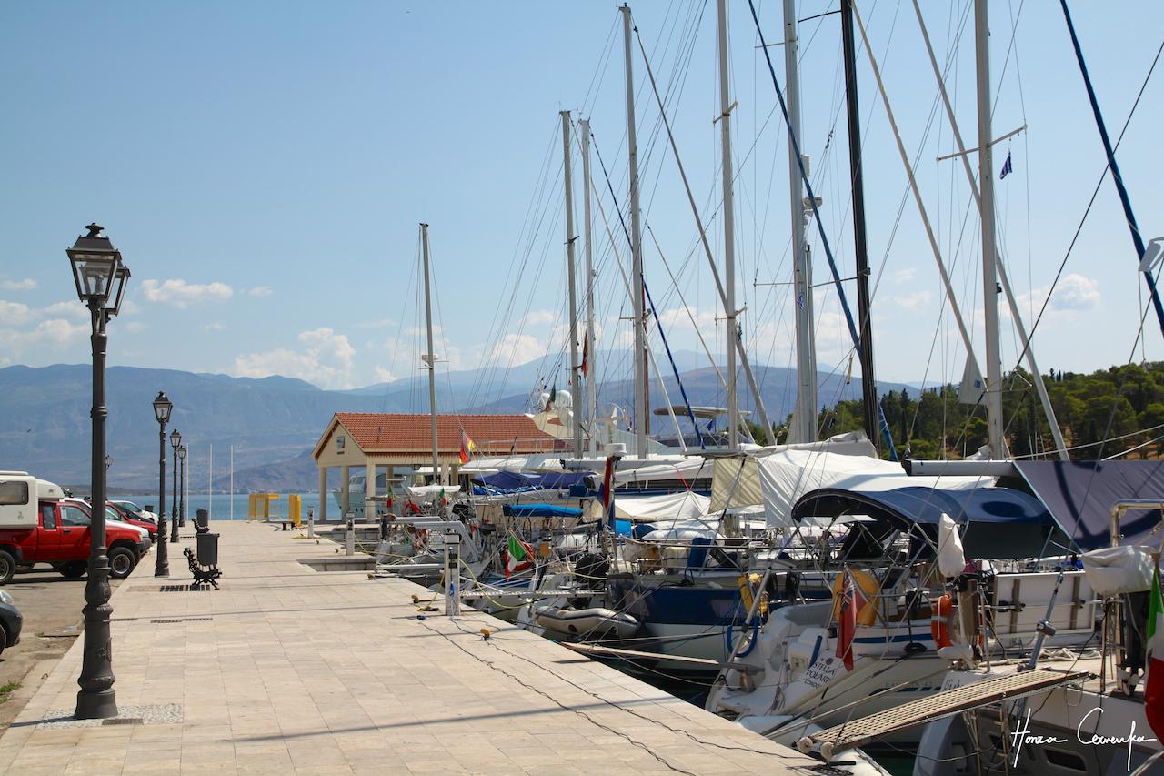 The port in Galaxidi