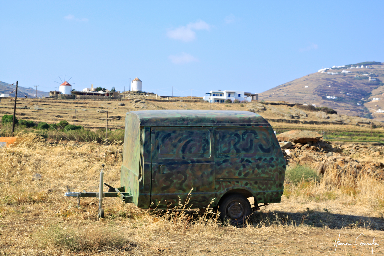 Where there are no dovecotes, there are bound to be windmills and hippie trailers