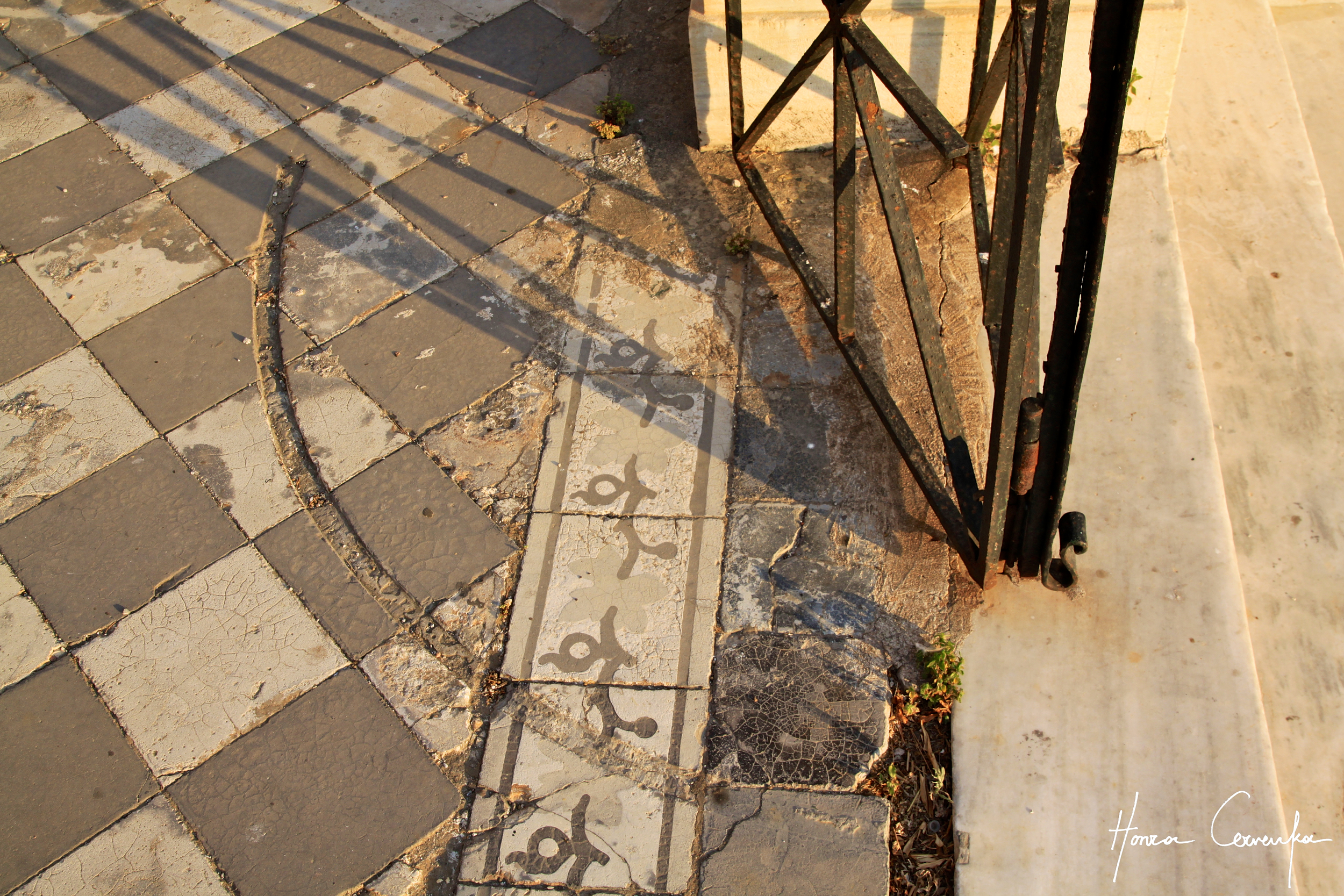 Here's a little puzzle--how can you tell that the gate is not original?