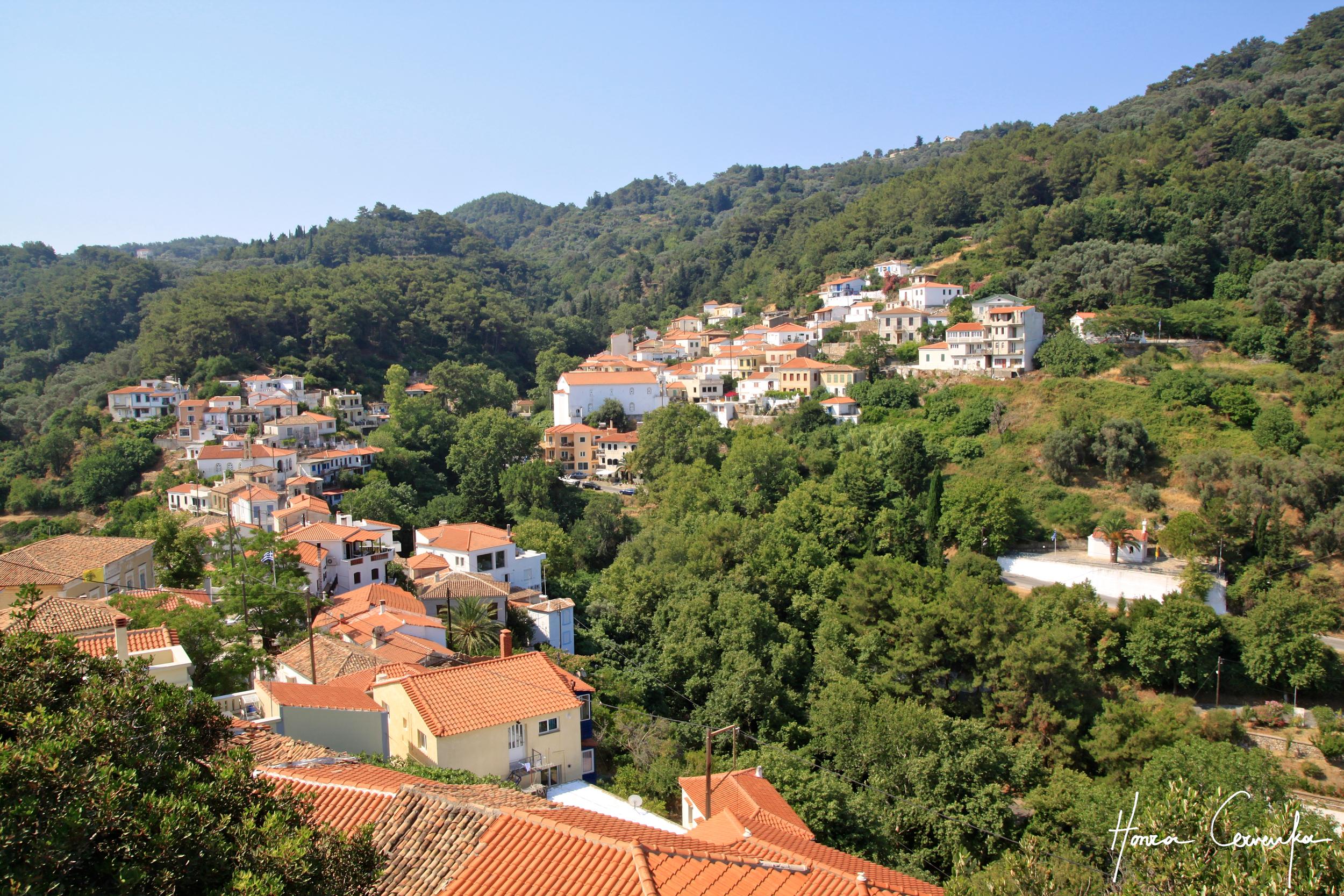 Little satellite villages further inland