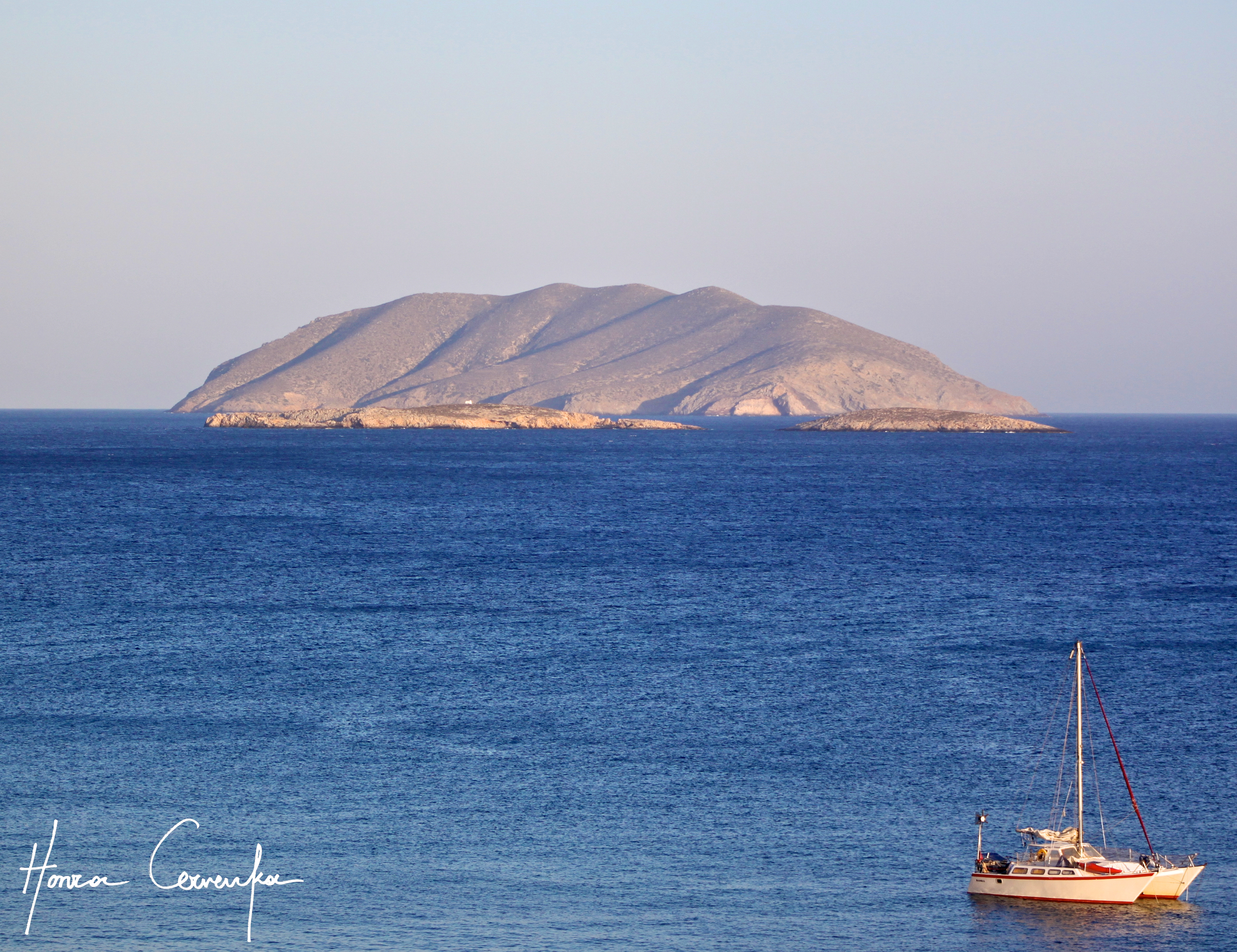 VIew of an islet off the coast of Anafi