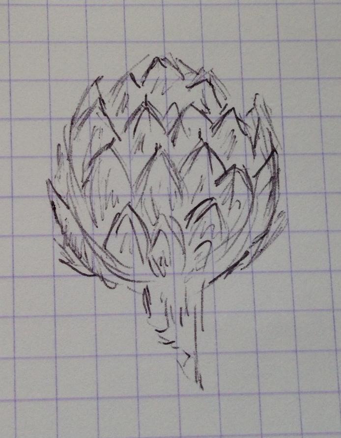 Homesick cooking school doodle.