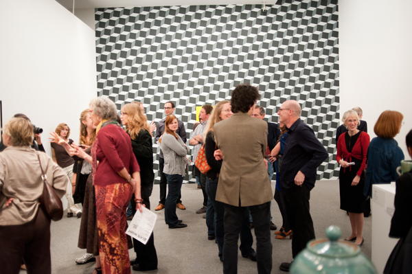 the Baker Artist Awards exhibition closing at the BMA, October 2011.