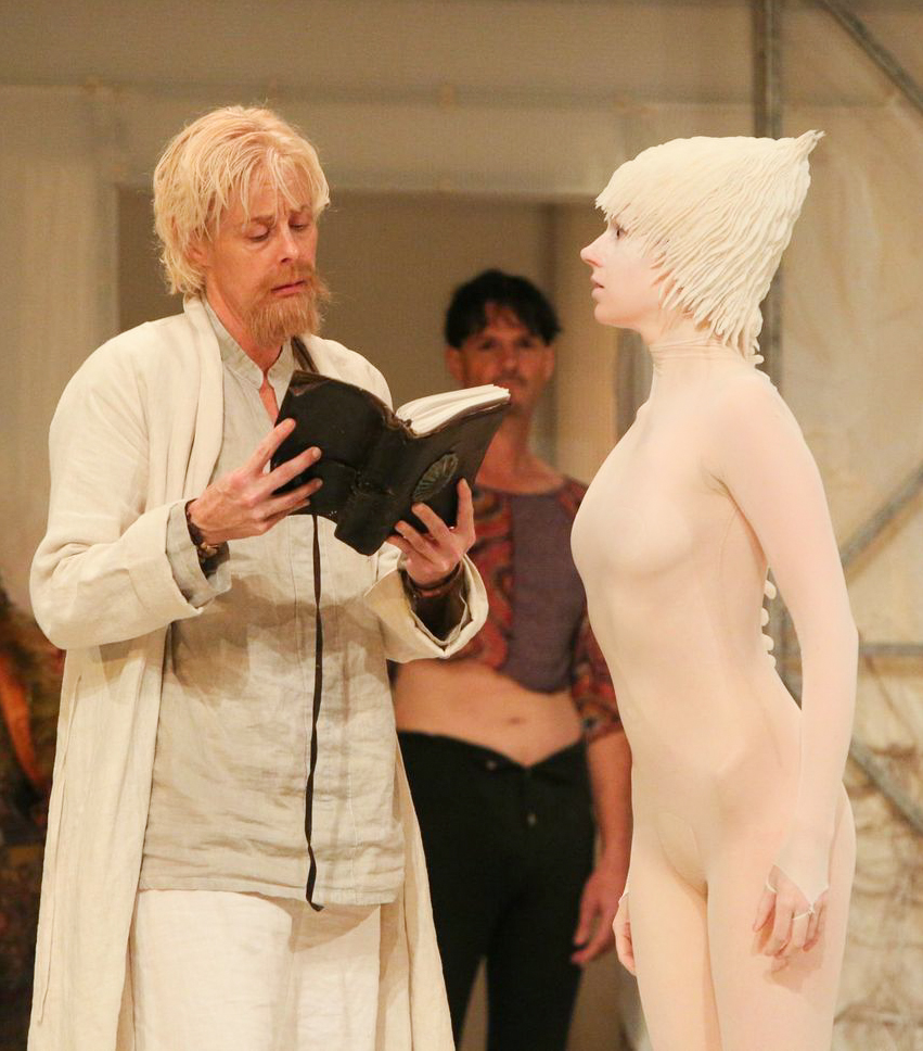 Prospero (Julie Fishell) and Ariel in  The Tempest -   PlayMakers Rep  2013 - Photos by Michal Daniel