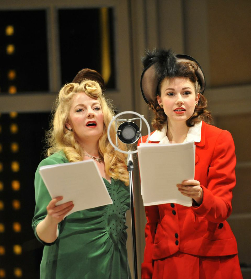 Violet (Katja Hill) and Mary in  It's A Wonderful Life: A Radio Play -  PlayMakers Rep  2012 - Photos by Jon Gardiner