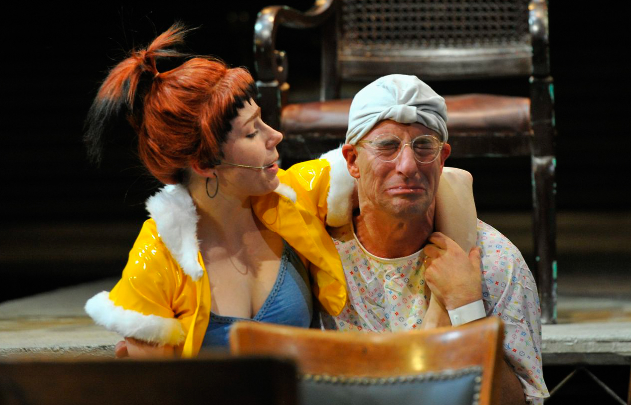 Argan (Steve Epp) and Louise in  The Imaginary Invalid  -  PlayMakers Rep  2012 - Photos by Jon Gardiner