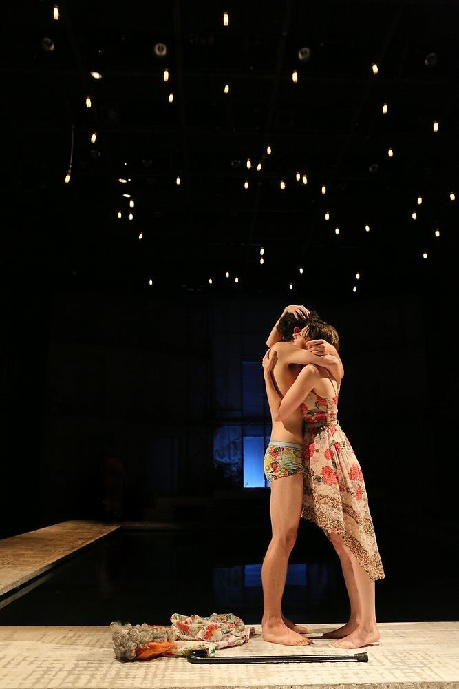 Vertumnus (Brandon Garegnani) and Pomona in  Metamorphoses  -  PlayMakers Rep  2013 - Photos by Michal Daniel