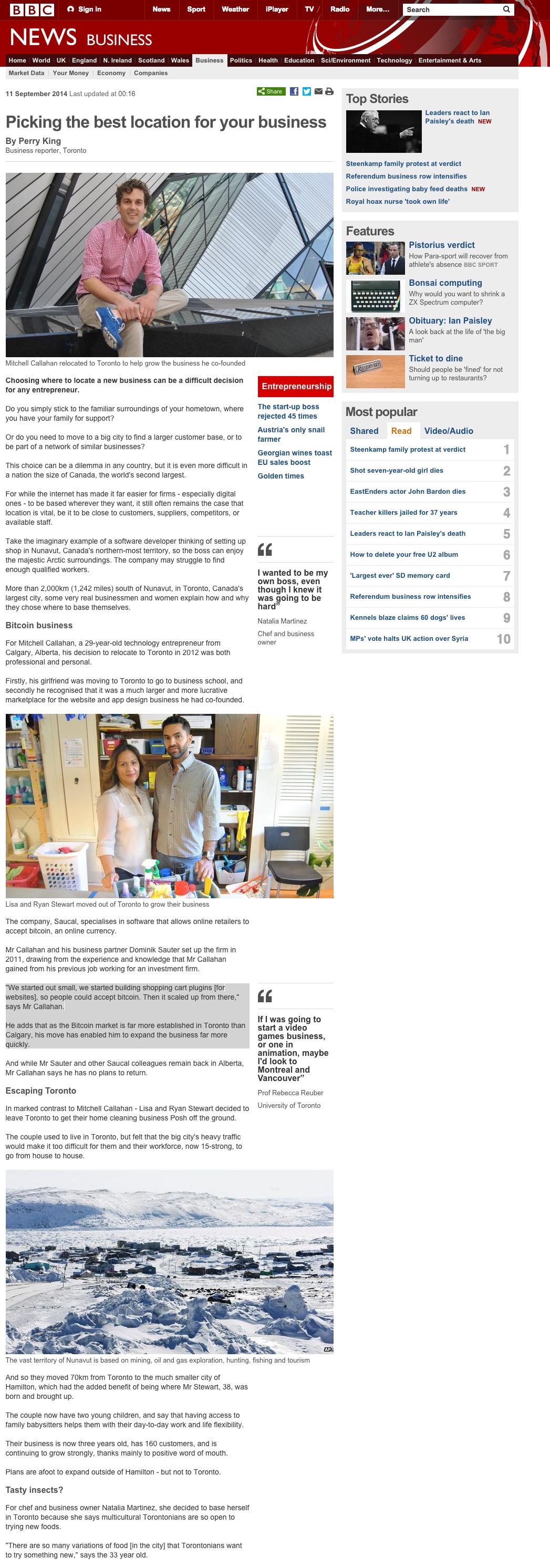 Mojito in BBC News