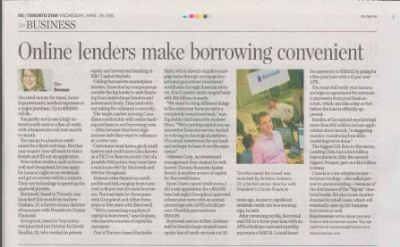 Toronto Star features Borrowell