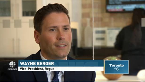 Regus on CBC Toronto News