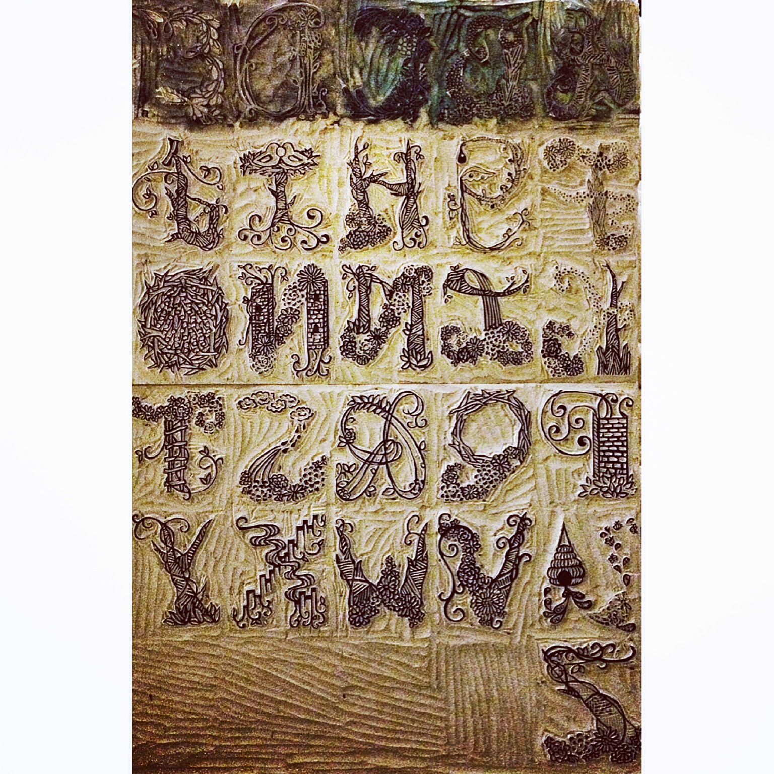 Final Illustrated Alphabet Carvings