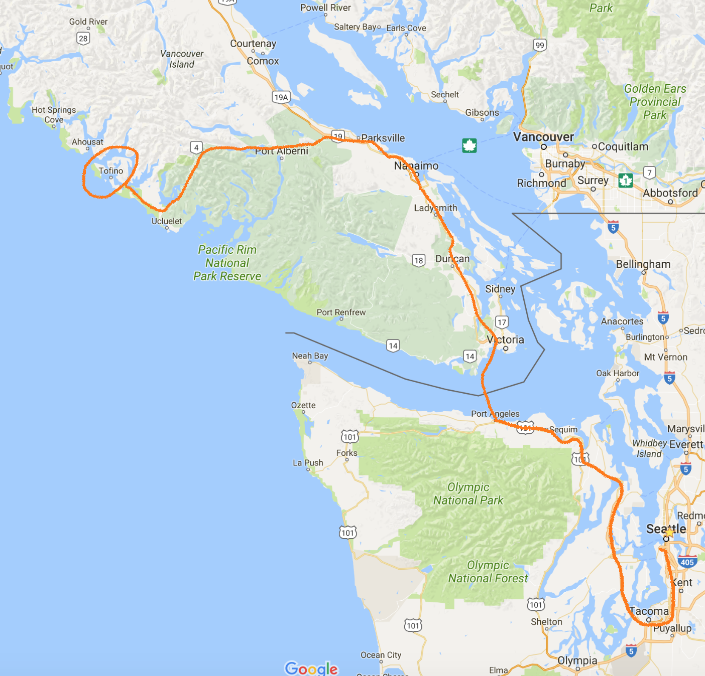 Trip Log: Tofino