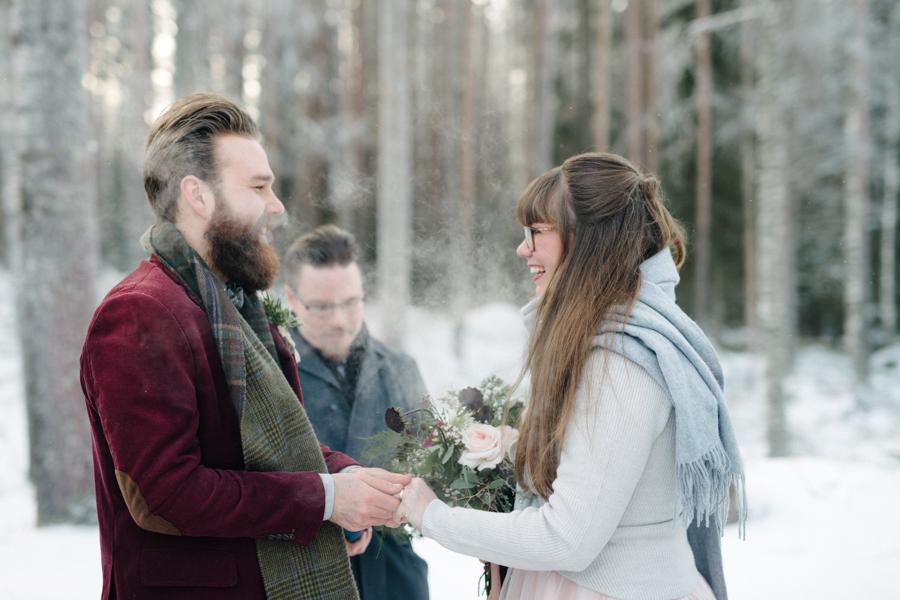 Romany and Juho's surprise winter wedding at Evon Luonto, talvihäät (25).jpg