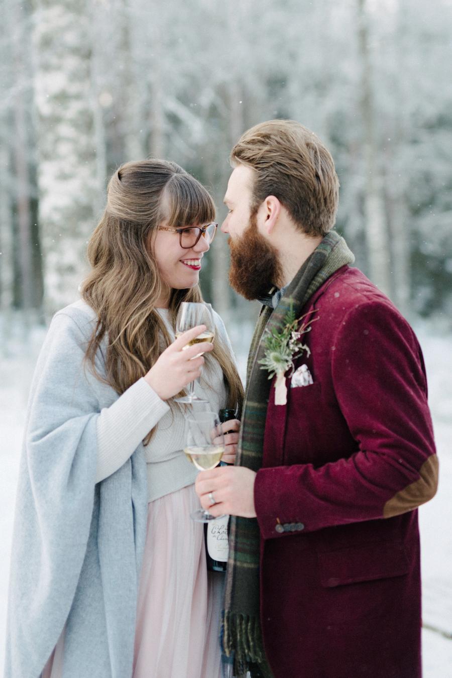 Romany and Juho's surprise winter wedding at Evon Luonto, talvihäät (34).jpg