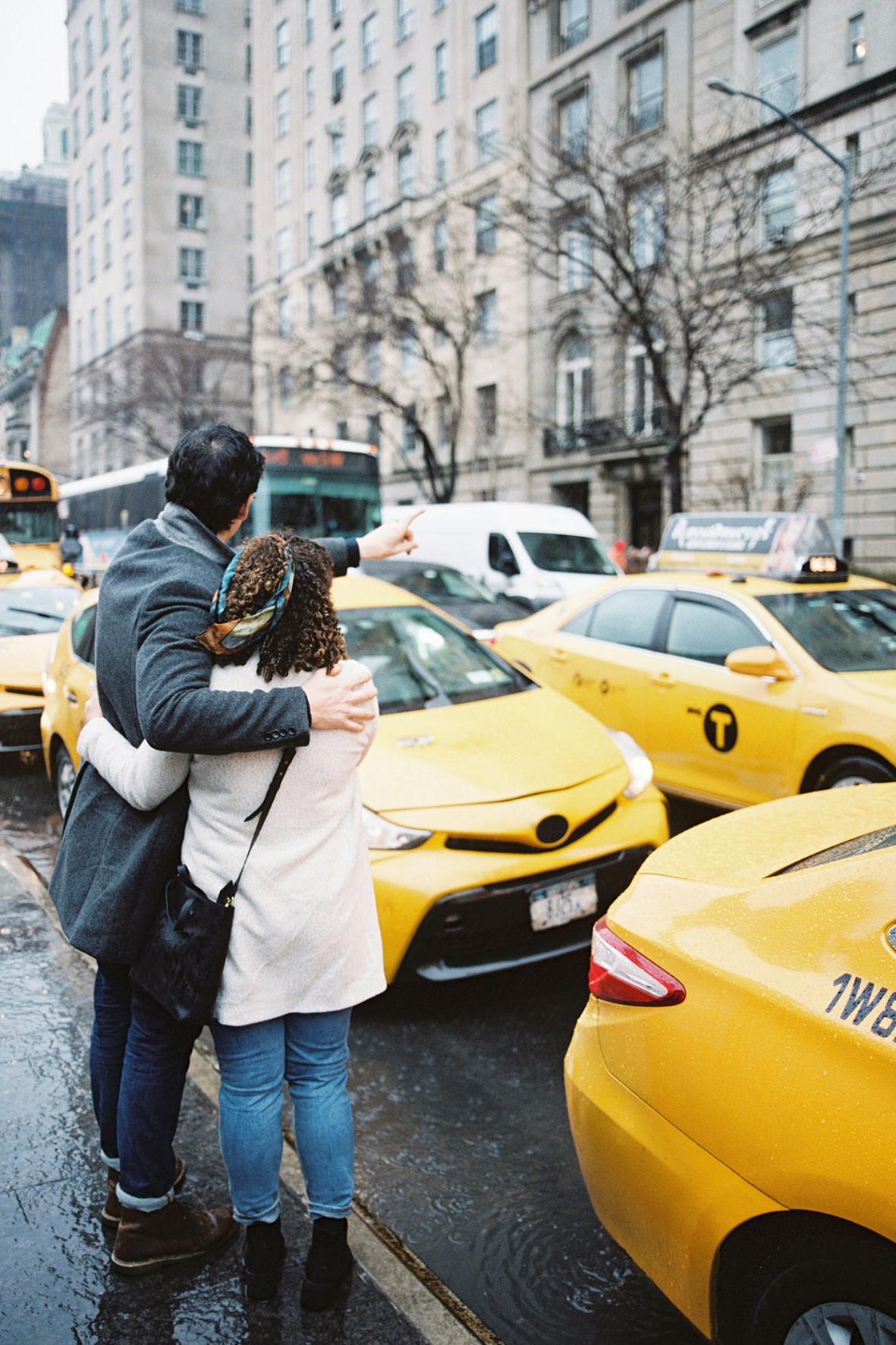Daphne & Jack's Rainy New York Couple Shoot