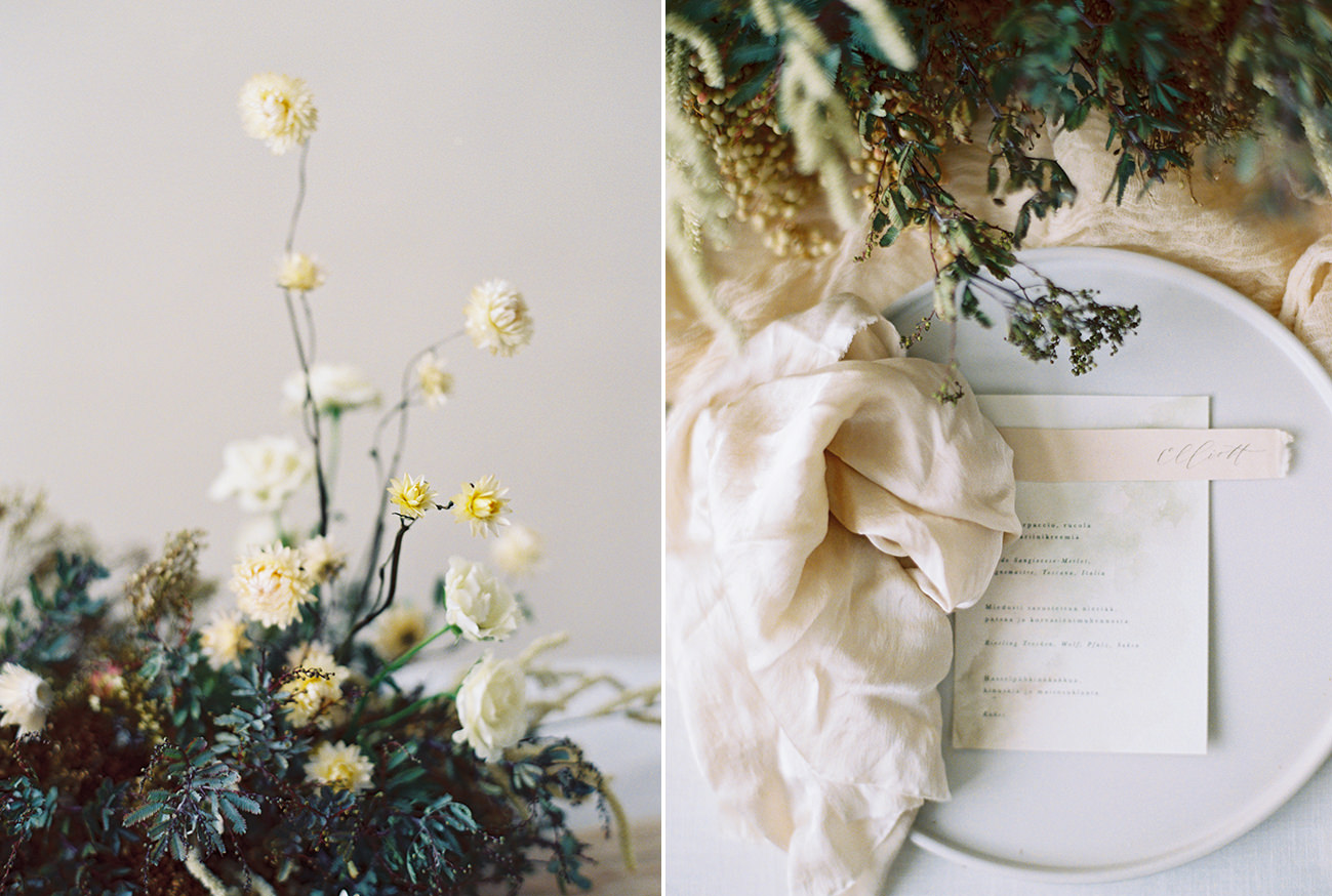 Bridal Inspiration, Wedding Bouquet, Hääkuvaus, Film Wedding Photographer, Table Setting Inspiration, Stationery, Dried Flowers, www.nordandmae.com, www.susannanordvall (22).jpg