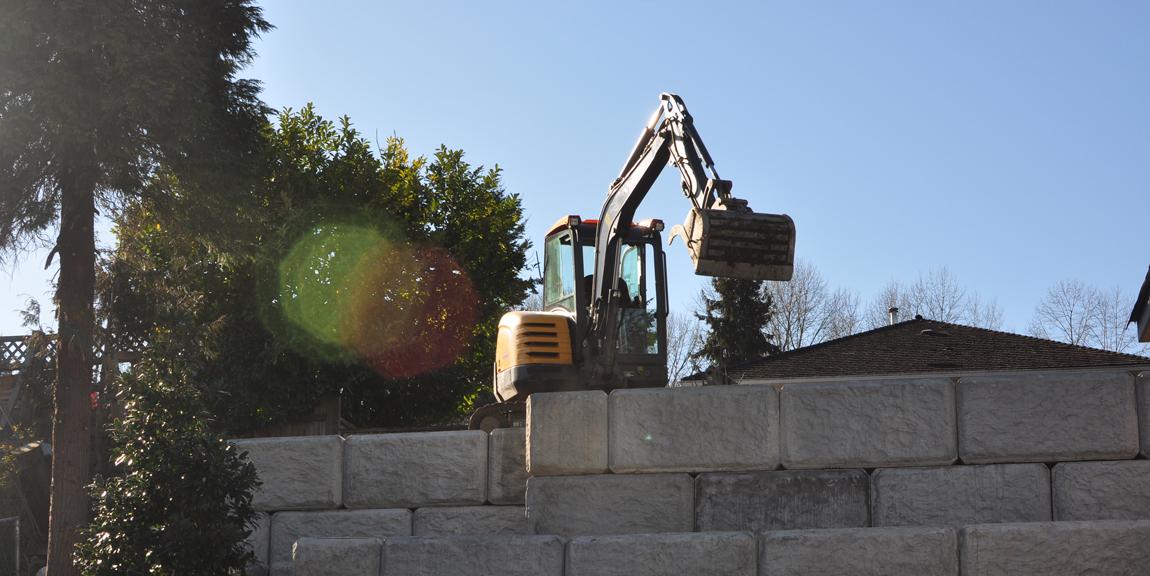 United Lock Block Installation in Coquitlam, BC.