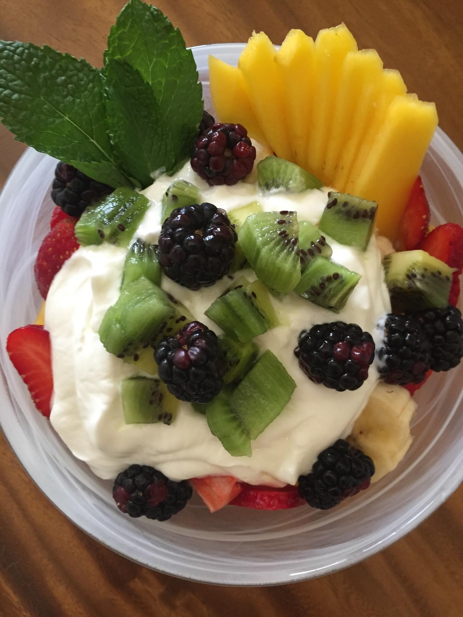 Tropical Fruit Bowl with Greek Yogurt