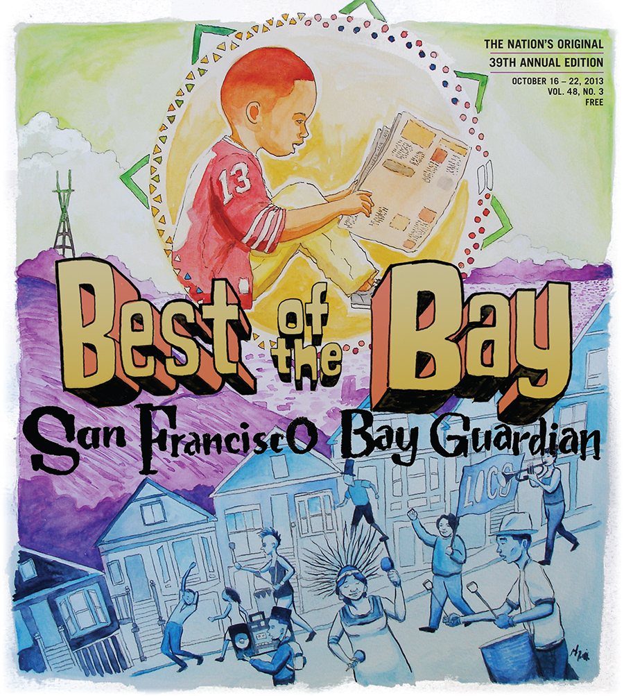 Cover illustration for the SF Bay Guardian's 2013 Best of the Bay editionby Robert Trujillo
