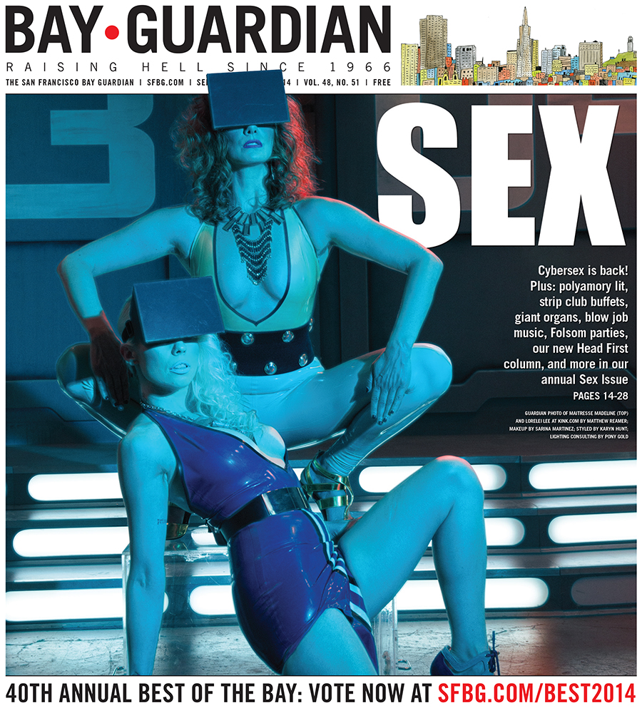 Guardian photo of Maitresse Madeline (top) and Lorelei Lee by Matthew Reamer