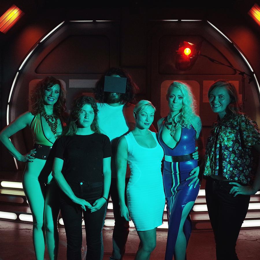 From left: Maitresse Madeline, Eleanor Bleier, Matthew Reamer, Pony Gold, Lorelei Lee, Brooke Ginnard