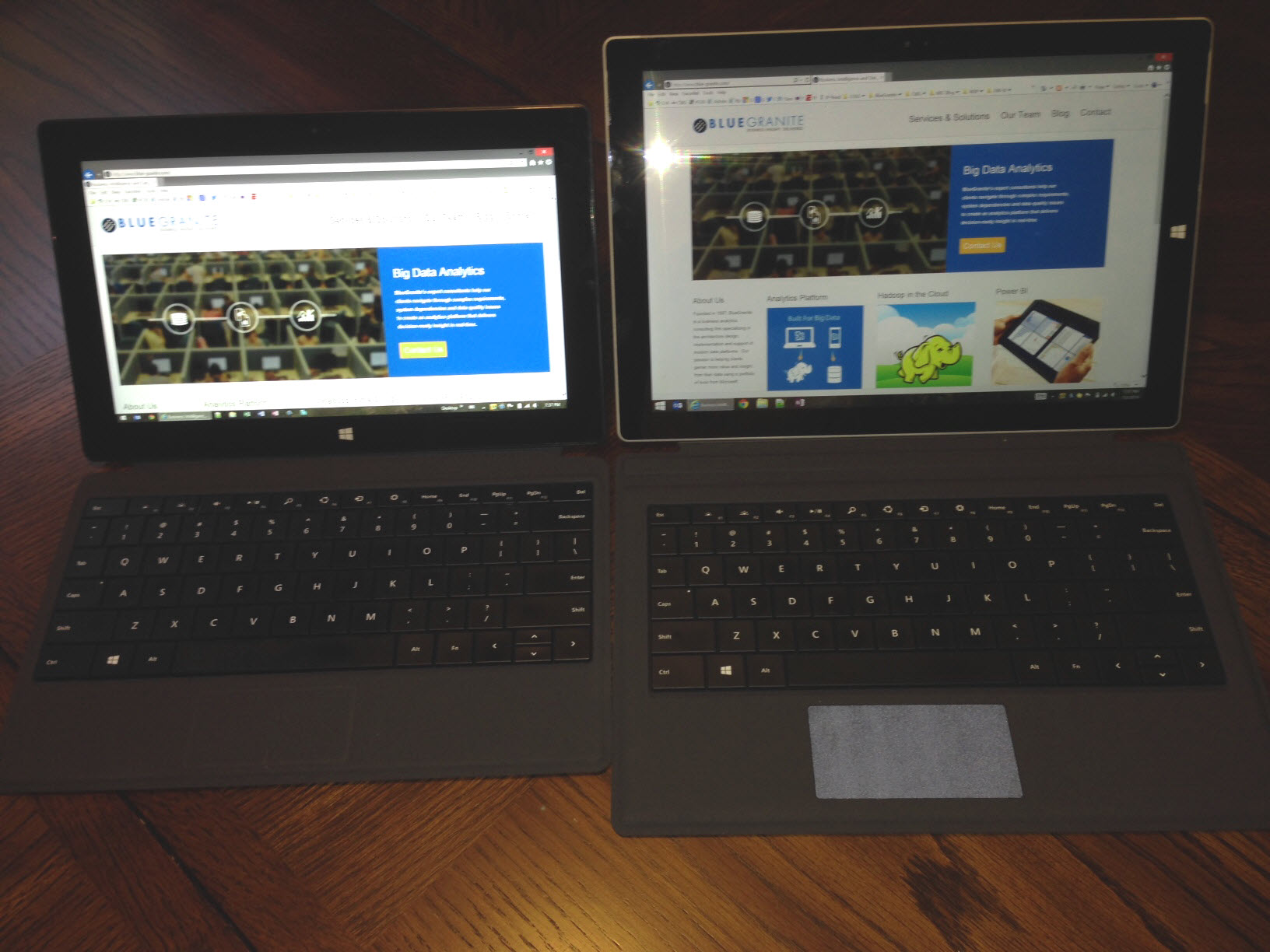 Left:  Surface Pro 2   |   Right: Surface Pro 3