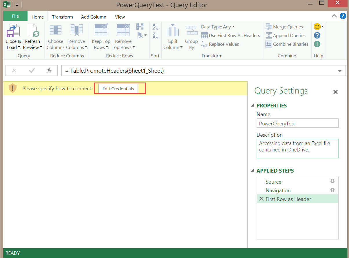 Using Power Query to Get Data From an Excel File in OneDrive