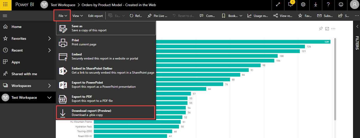 PBI DownloadReport Why You Should Create Reports in Power BI Desktop Instead of the Power BI Service