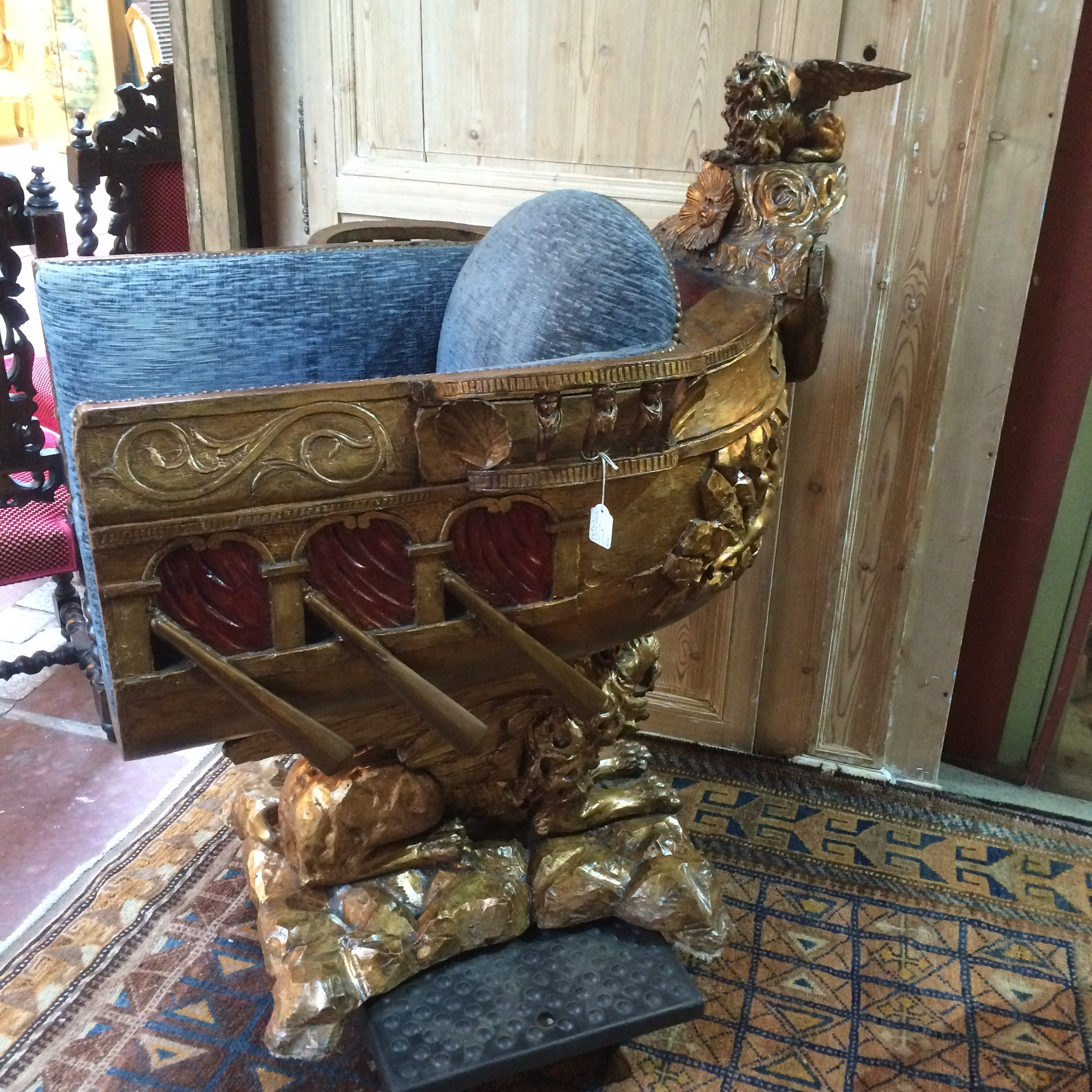 A raised boat chair