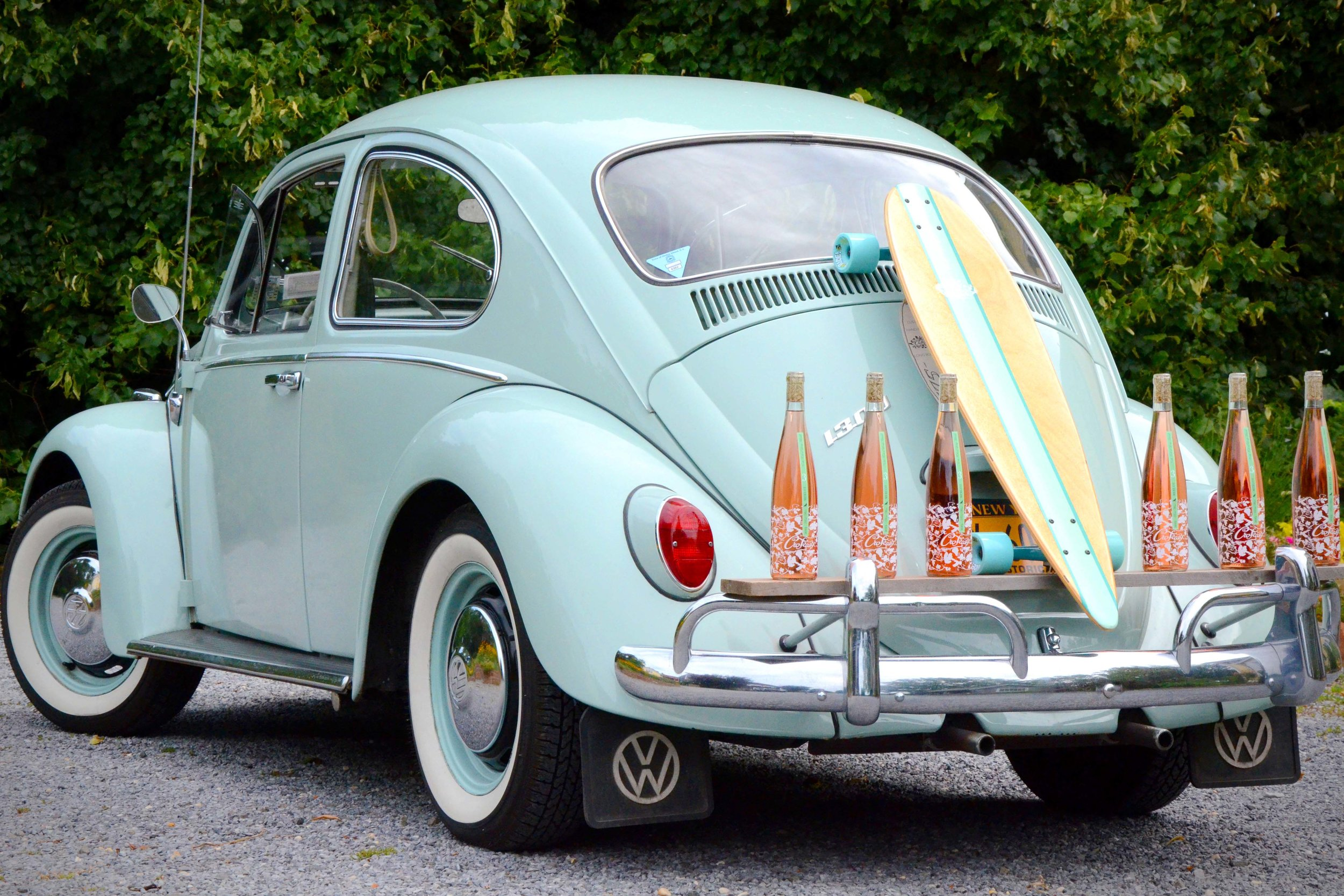 Vintage 1966 VW Beetle with Croteaux Rosé at the Tasting Barn