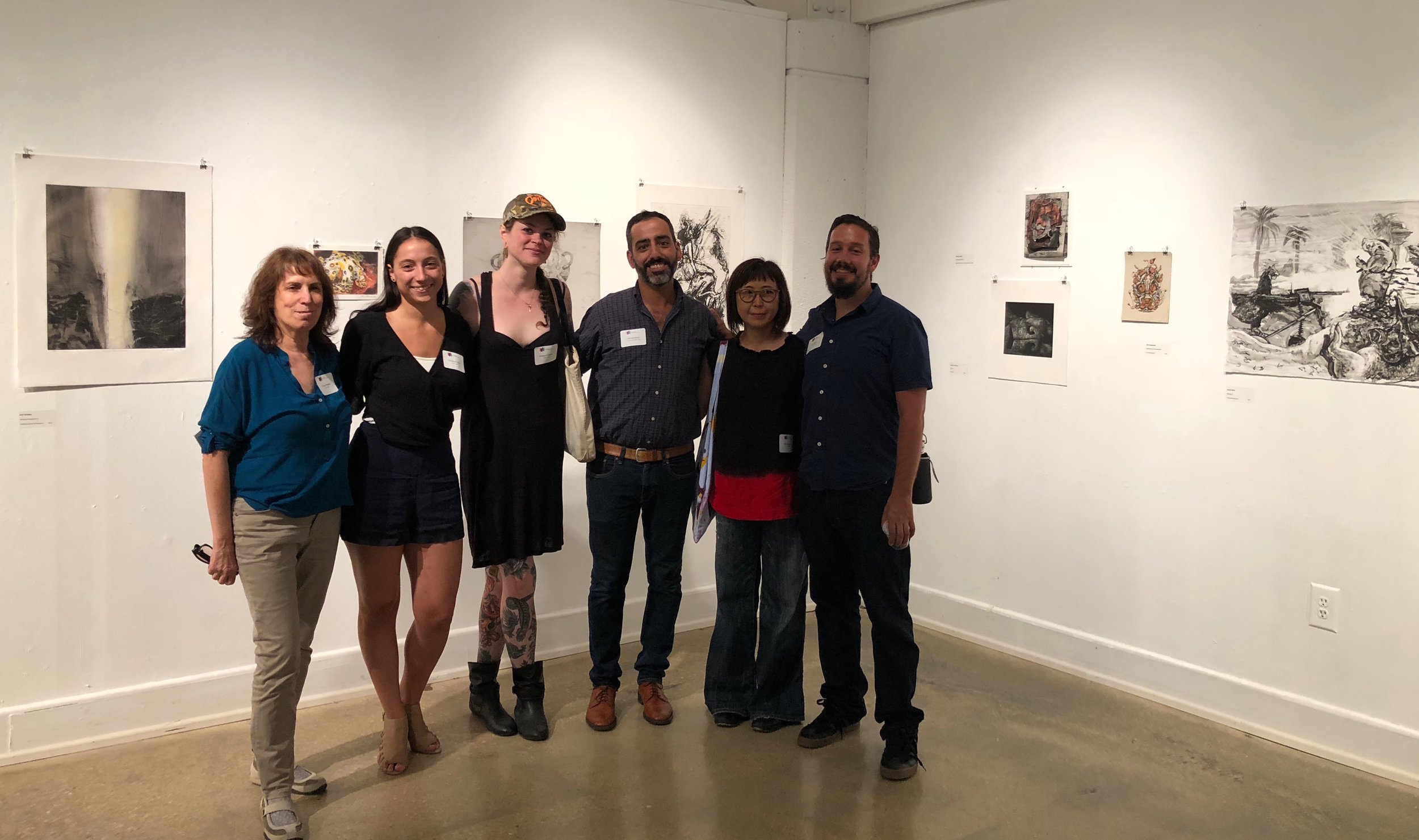 Dialogues in Printmaking Opening Artists Curators.jpg