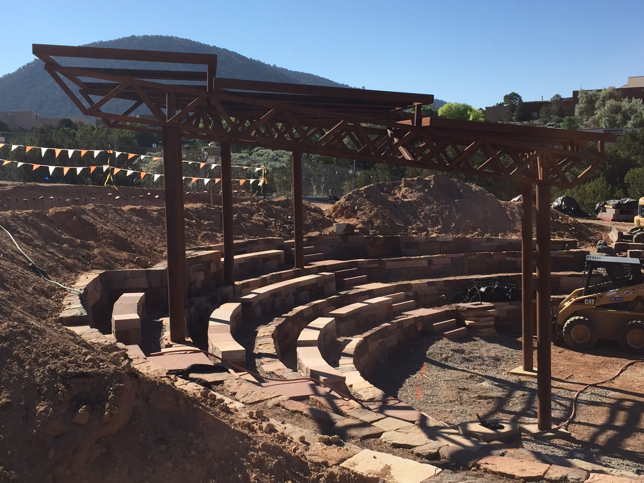 Construction at Santa Fe Botanical Garden