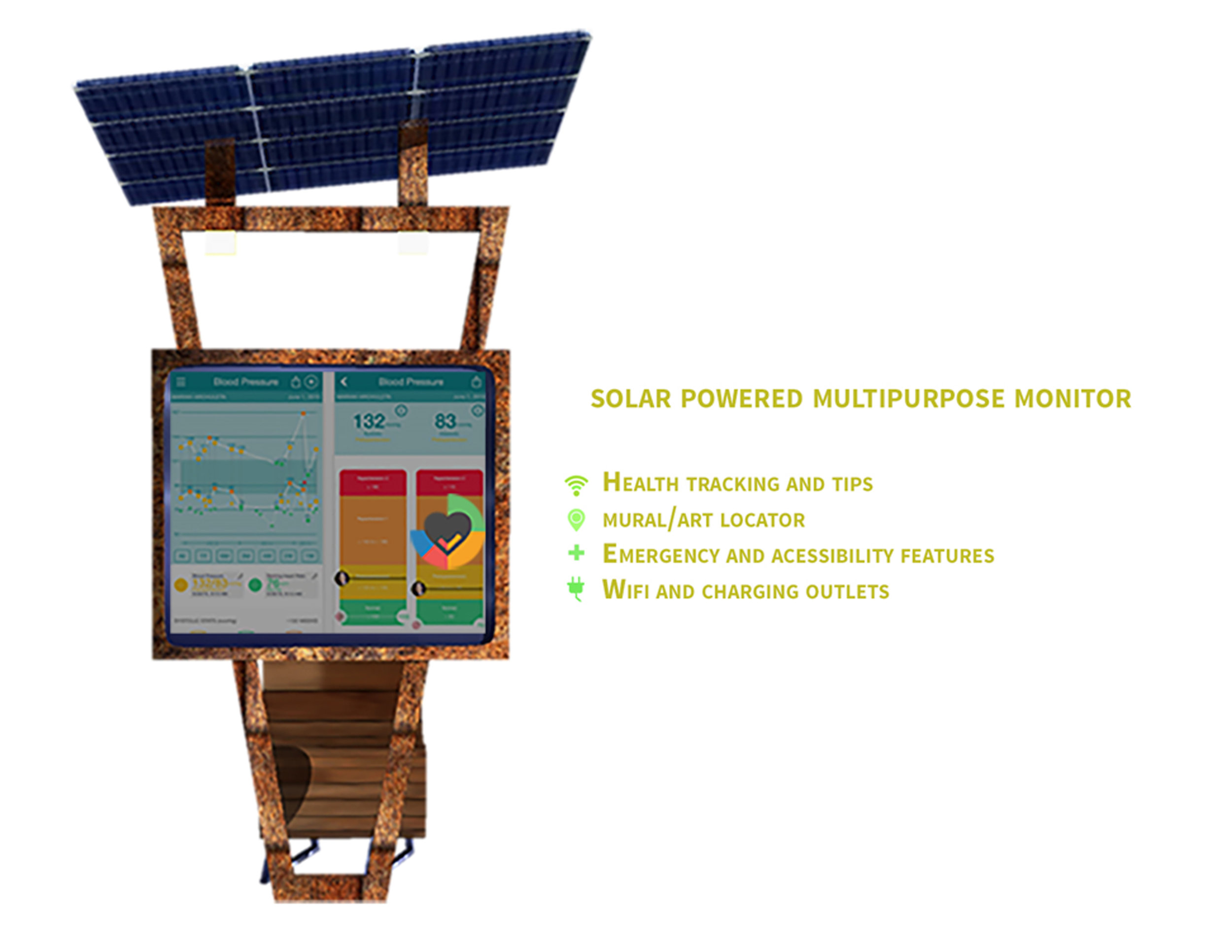 Copy of Solar Powered Multipurpose Monitor