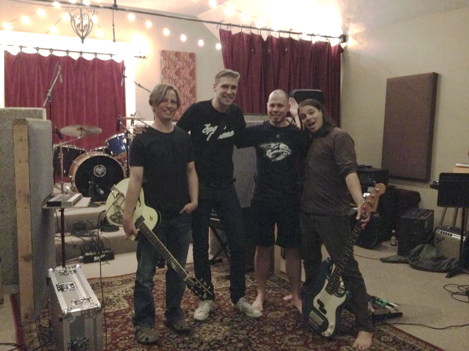 "Shane Lamb, Sam Farkas, James Bonomo, Mikie Martel | Amanda Broadway - Recording ""Watch Over Me"""