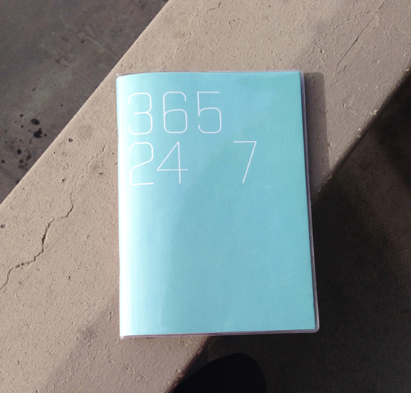Took my day planner with me to Calgary - gotta work 365 24/7. Book by Picniq- love the minimal design.