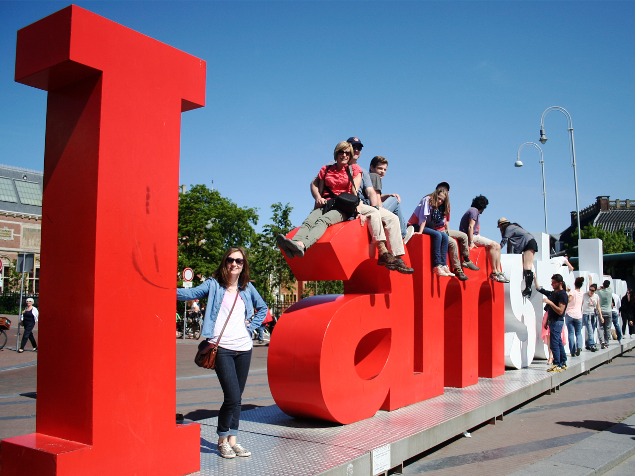 Right next door was the I Amsterdam sign infront of the   Rijksmuseum