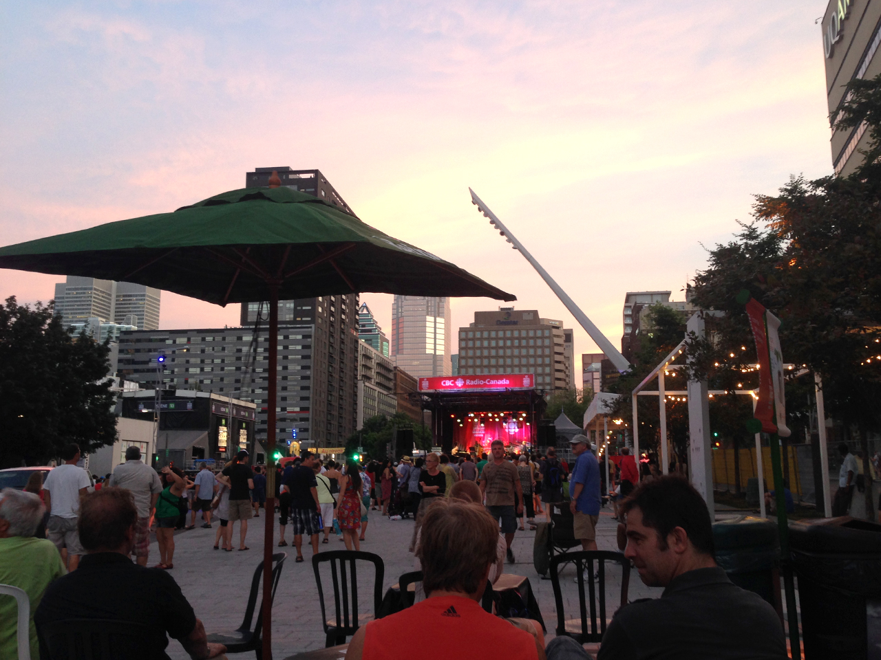 Jazzfest outdoors in Place-des-arts