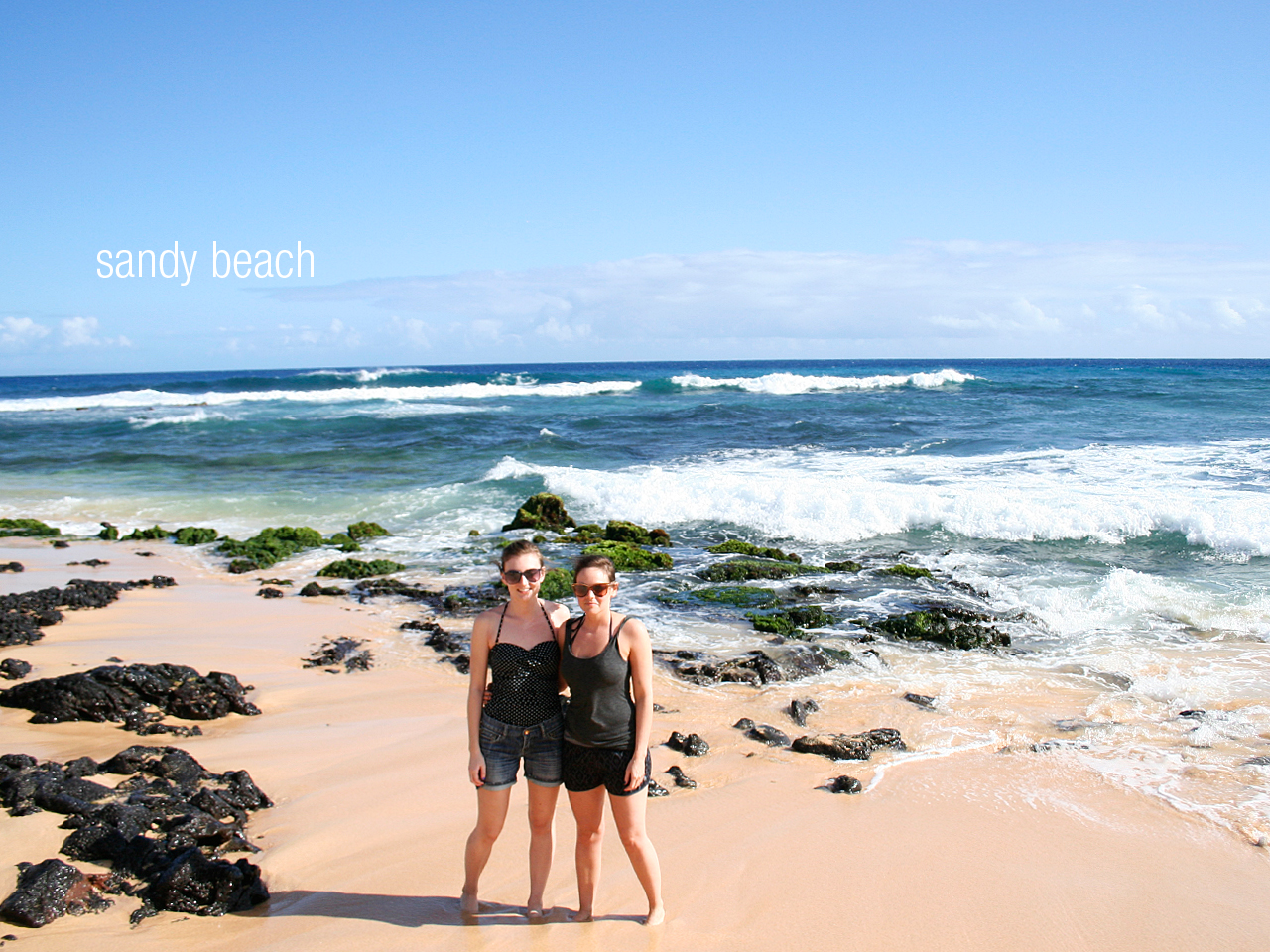 Later the same day we took a 2.5 hour bus ride/ waiting for the bus journey, to get to a less crowded, beautiful beach called Sandy Beach. The waves were really big for swimming and we now know why it is called sandy beach. Never had so much sand in my bathing suit ever. EVER.